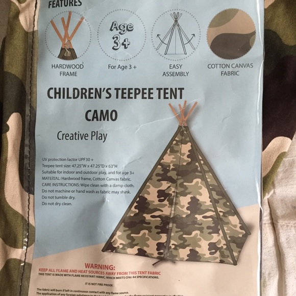 detailed look 177b9 0e6b8 Children's Camouflage Teepee Tent